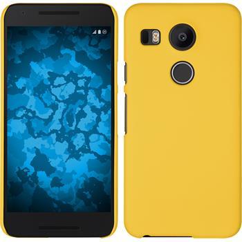 Hardcase for Google Nexus 5X rubberized yellow