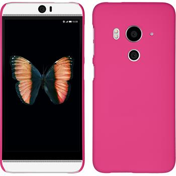 Hardcase for HTC Butterfly 3 rubberized hot pink