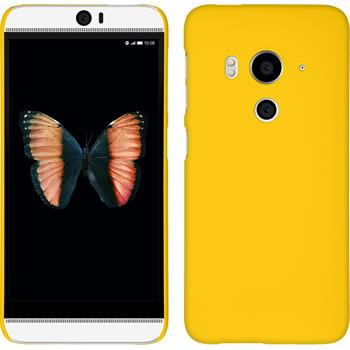 Hardcase for HTC Butterfly 3 rubberized yellow