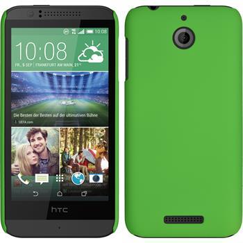 Hardcase for HTC Desire 510 rubberized green