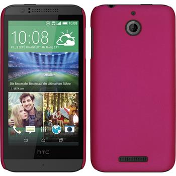 Hardcase for HTC Desire 510 rubberized hot pink