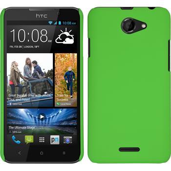Hardcase for HTC Desire 516 rubberized green
