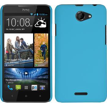 Hardcase for HTC Desire 516 rubberized light blue