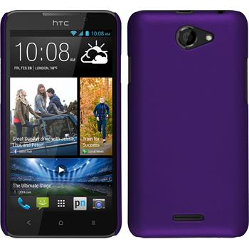 Hardcase for HTC Desire 516 rubberized purple