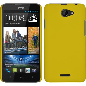 Hardcase for HTC Desire 516 rubberized yellow
