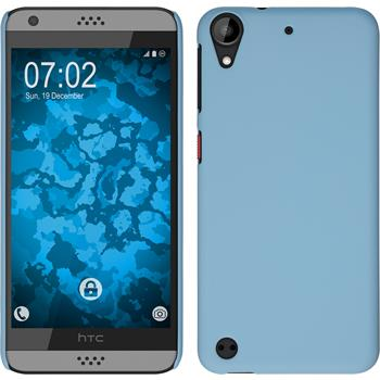 Hardcase for HTC Desire 630 rubberized light blue