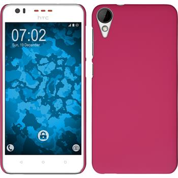 Hardcase for HTC Desire 825 rubberized hot pink