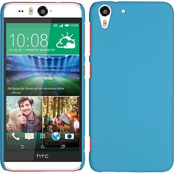 Hardcase for HTC Desire Eye rubberized light blue