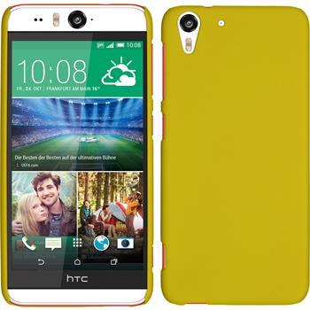 Hardcase for HTC Desire Eye rubberized yellow