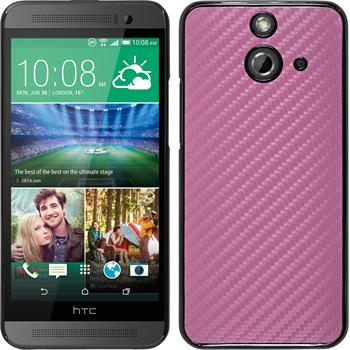 Hardcase for HTC One E8 carbon optics hot pink