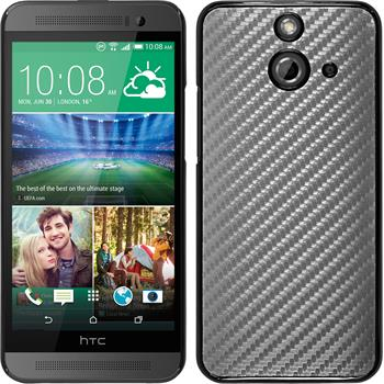 Hardcase for HTC One E8 carbon optics silver
