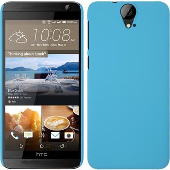 Hardcase for HTC One E9+ rubberized light blue