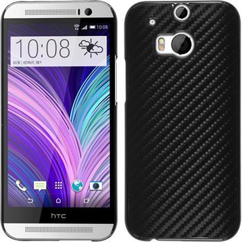 Hardcase for HTC One M8 carbon optics black