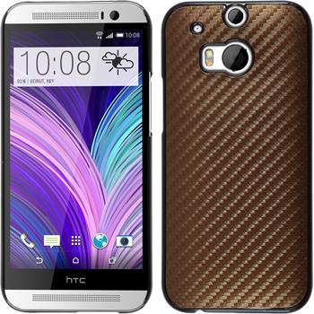 Hardcase for HTC One M8 carbon optics bronze