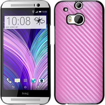 Hardcase for HTC One M8 carbon optics hot pink