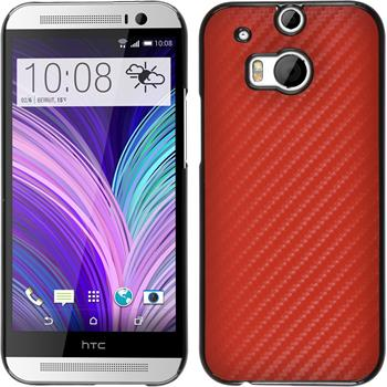 Hardcase for HTC One M8 carbon optics red