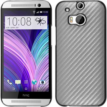 Hardcase for HTC One M8 carbon optics silver