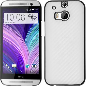 Hardcase for HTC One M8 carbon optics white