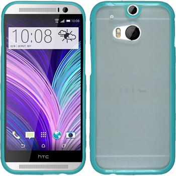 Hardcase for HTC One M8 Frame turquoise