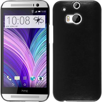 Hardcase for HTC One M8 leather optics black
