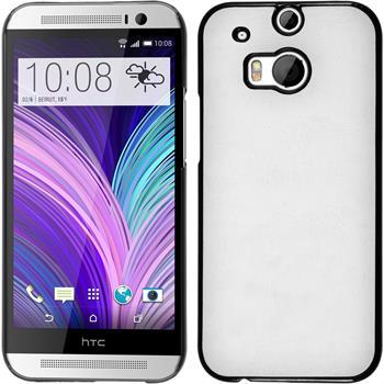 Hardcase for HTC One M8 leather optics white