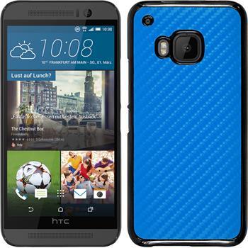 Hardcase for HTC One M9 carbon optics blue