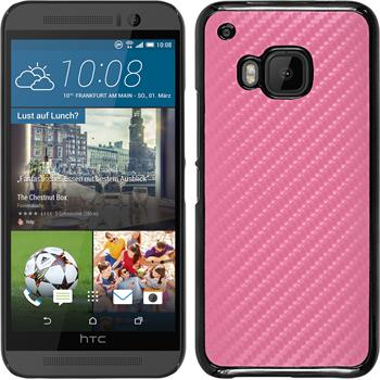 Hardcase for HTC One M9 carbon optics hot pink