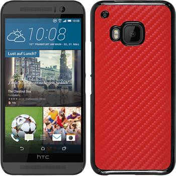 Hardcase for HTC One M9 carbon optics red