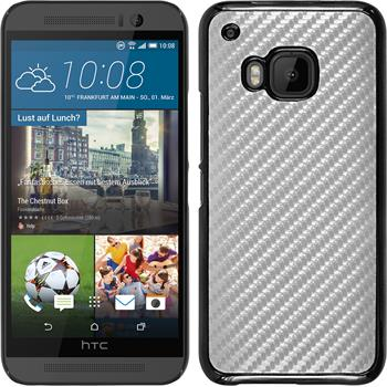 Hardcase for HTC One M9 carbon optics silver
