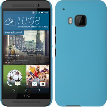 Hardcase for HTC One M9 rubberized light blue