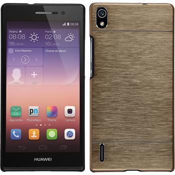 Hardcase for Huawei Ascend P7 metallic gold