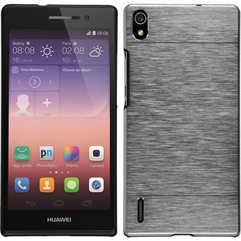 Hardcase for Huawei Ascend P7 metallic silver