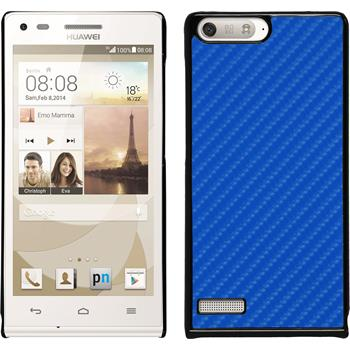 Hardcase for Huawei Ascend P7 Mini carbon optics blue
