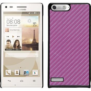 Hardcase for Huawei Ascend P7 Mini carbon optics hot pink