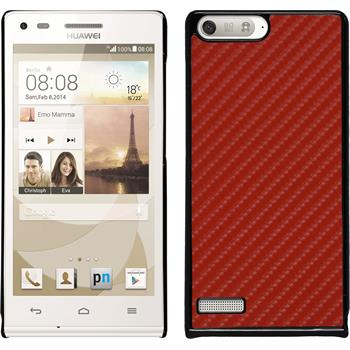 Hardcase for Huawei Ascend P7 Mini carbon optics red