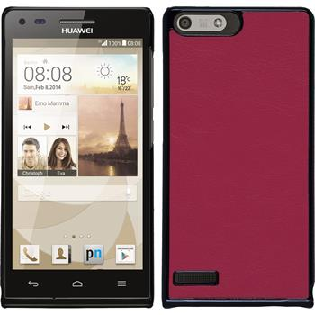Hardcase for Huawei Ascend P7 Mini leather optics hot pink