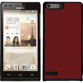Hardcase for Huawei Ascend P7 Mini leather optics red