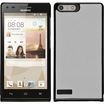 Hardcase for Huawei Ascend P7 Mini leather optics white
