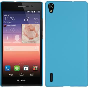 Hardcase for Huawei Ascend P7 rubberized light blue