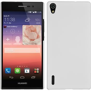 Hardcase for Huawei Ascend P7 rubberized white