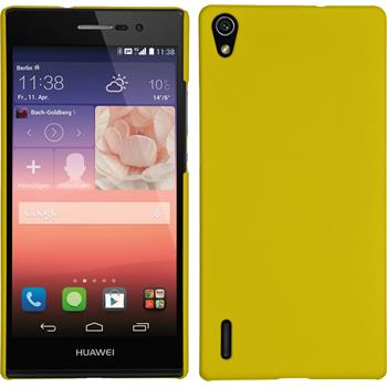 Hardcase for Huawei Ascend P7 rubberized yellow