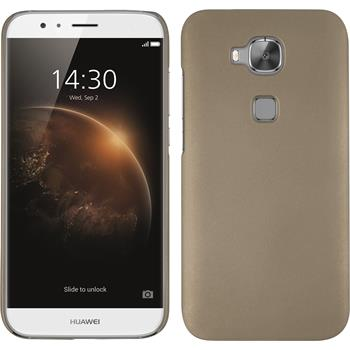 Hardcase for Huawei G8 rubberized gold