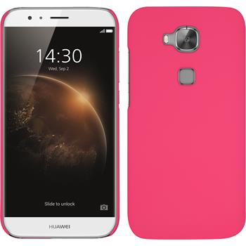 Hardcase for Huawei G8 rubberized hot pink