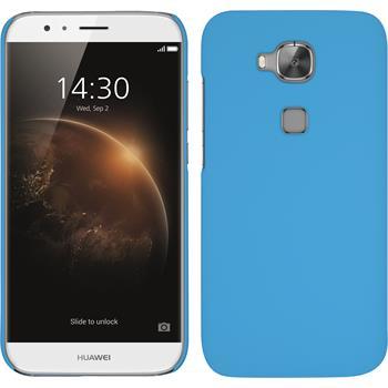 Hardcase for Huawei G8 rubberized light blue