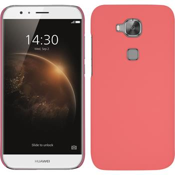 Hardcase for Huawei G8 rubberized pink