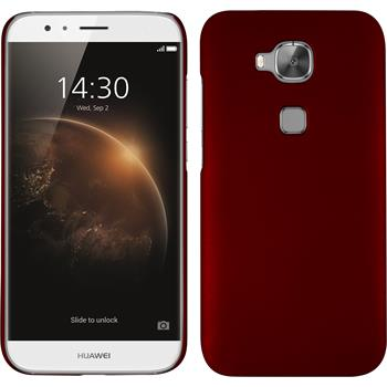 Hardcase for Huawei G8 rubberized red