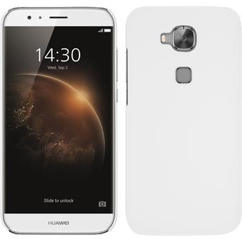 Hardcase for Huawei G8 rubberized white