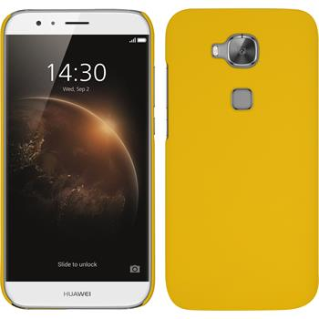 Hardcase for Huawei G8 rubberized yellow