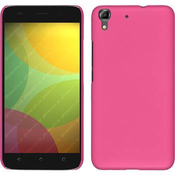 Hardcase for Huawei Honor 4A rubberized hot pink