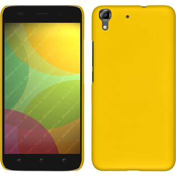 Hardcase for Huawei Honor 4A rubberized yellow